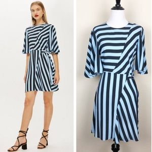 NWOT Topshop Diagonal Stripe Minidress